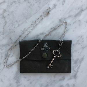 Birks key pendant necklace